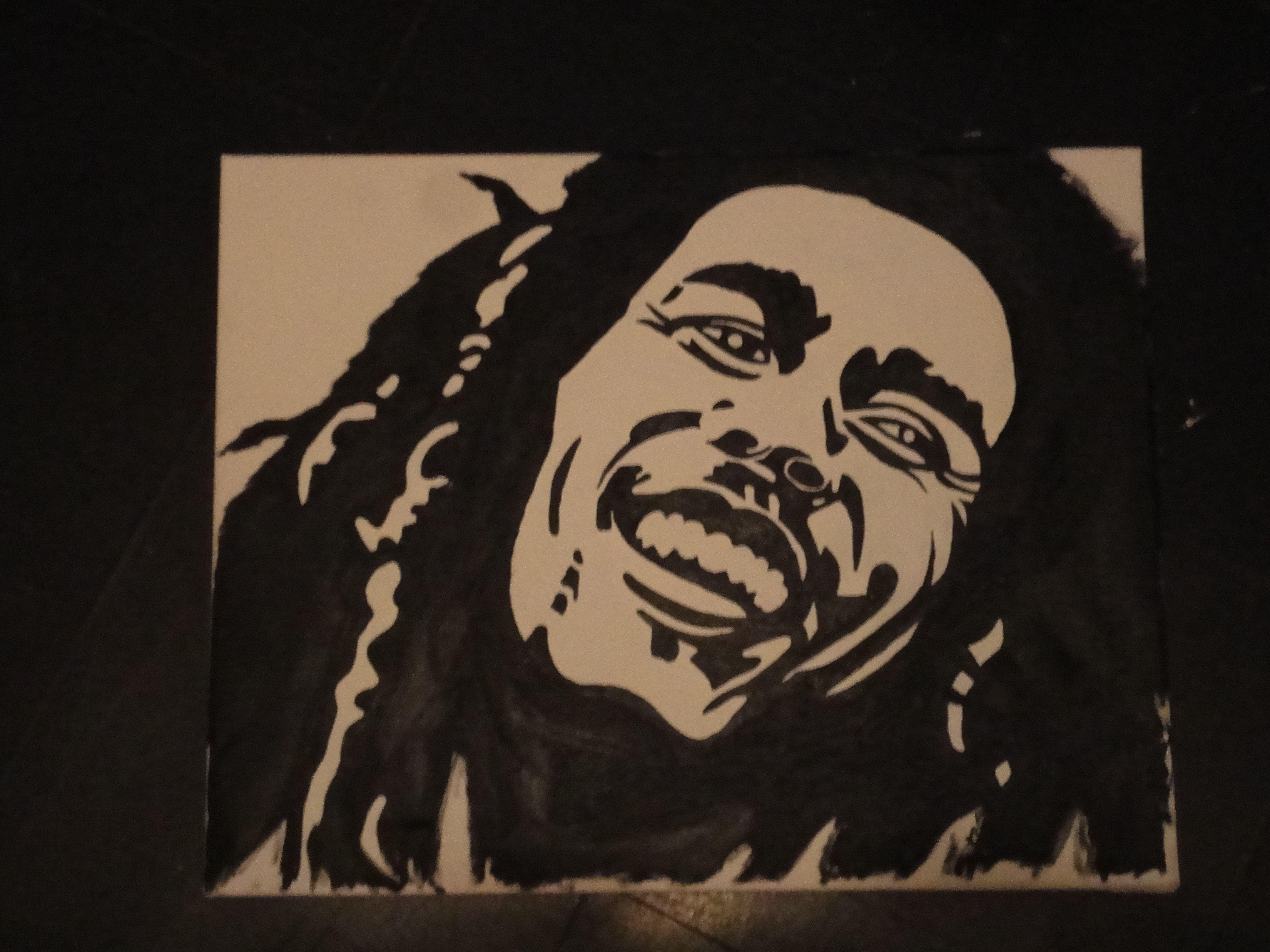 Bob Marley, olieverf schilderij op canvas