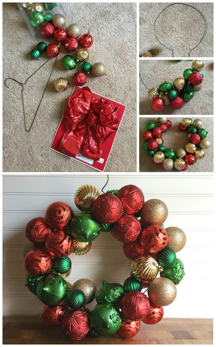 How to Make a Wire Hanger Ornament Wreath Ornament