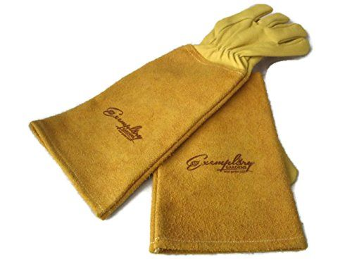 Rose Pruning Gloves For Men And Women Thorn Proof Goatskin Leather Gardening  Gloves With Long Cowhide Gauntlet To Protect Your Arms Until The Elbow  Medium ...