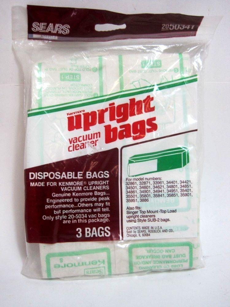 Kenmore Upright Vacuum Bags Pack Of 3
