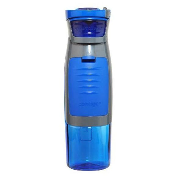Kangaroo Water Bottle in Blue - has a hidden compartment for locker keys, money, and ID! Perfect for the gym!