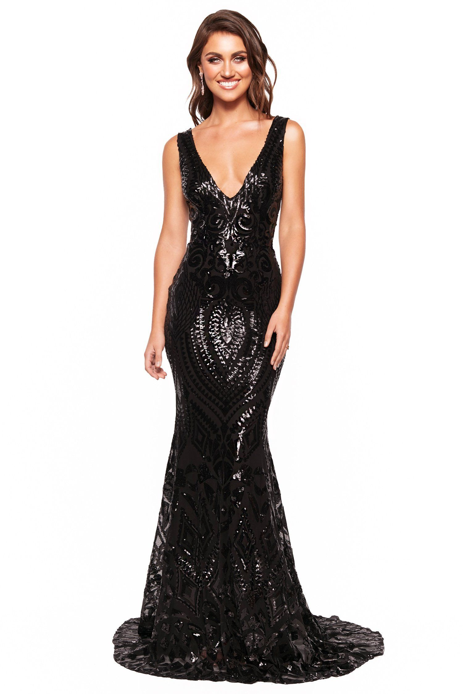 a3fb4ec4 A&N Luxe Crown Sequin Gown - Black in 2019 | Prom dresses | Black ...