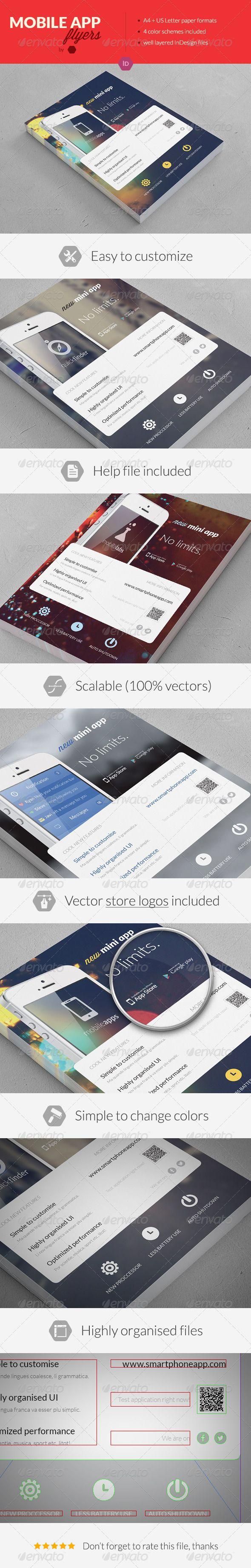 Mobile Application Promotion Flyers / Phone App 2