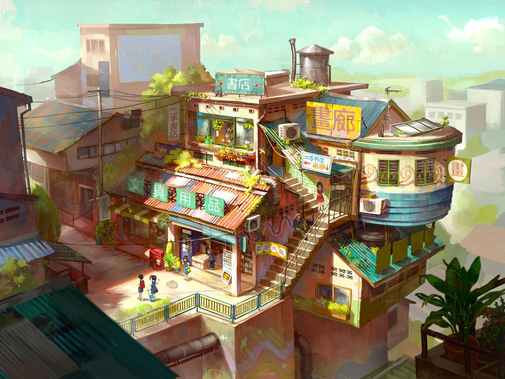 Neighborhood store and tea house chong fei giap