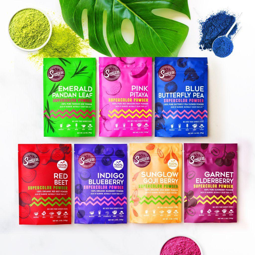 Bundle it 4 supercolor powders goji berries natural