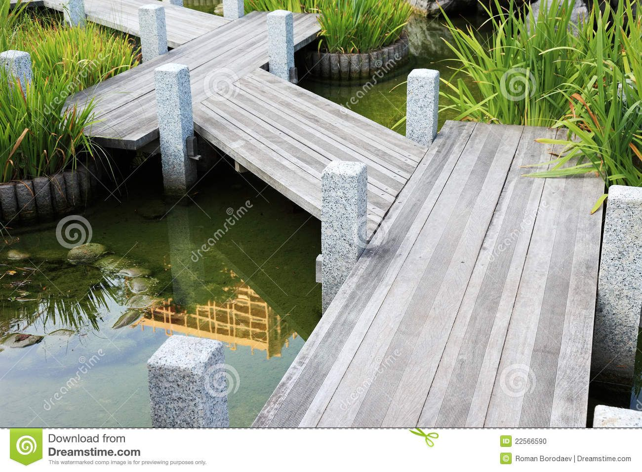 Wood Garden Art | Wooden Walkway Japanese Garden by ThruCarolsEyes ...