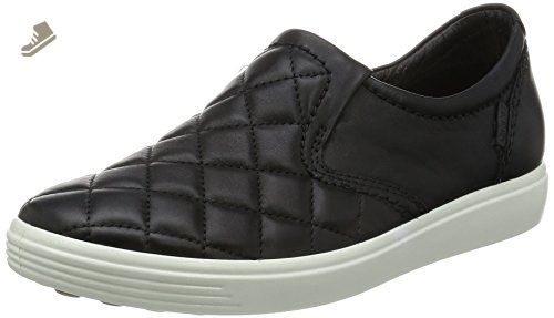 ecco soft 7 quilted slip on womens black,ecco shoes,ecco