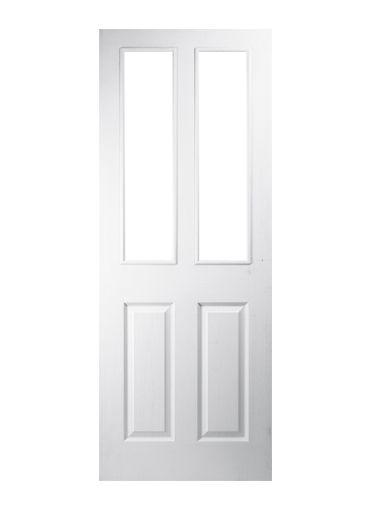 4 Panel 2 Light Pre-glazed Moulded Internal Door   Doors   Pinterest ...