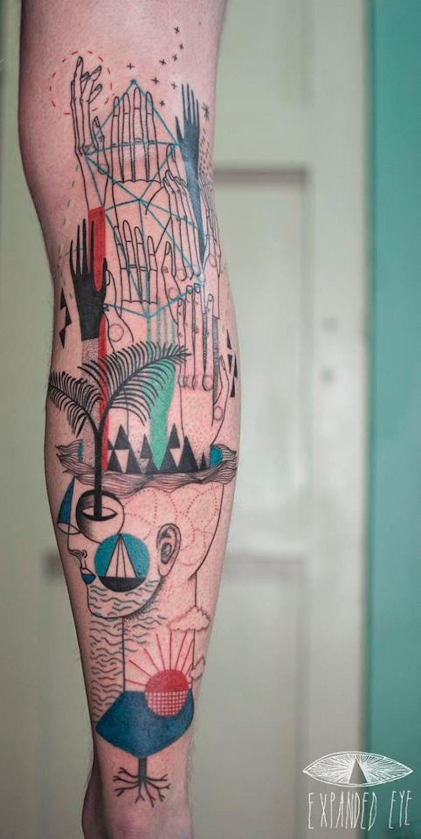 Unkonventionelle Tattoo-Designs von Künstler-Duo 'Expanded Eye' aus London