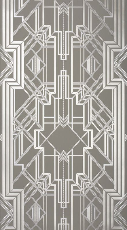Metropolis Wallpaper Champagne 802 By Catherine Martin By