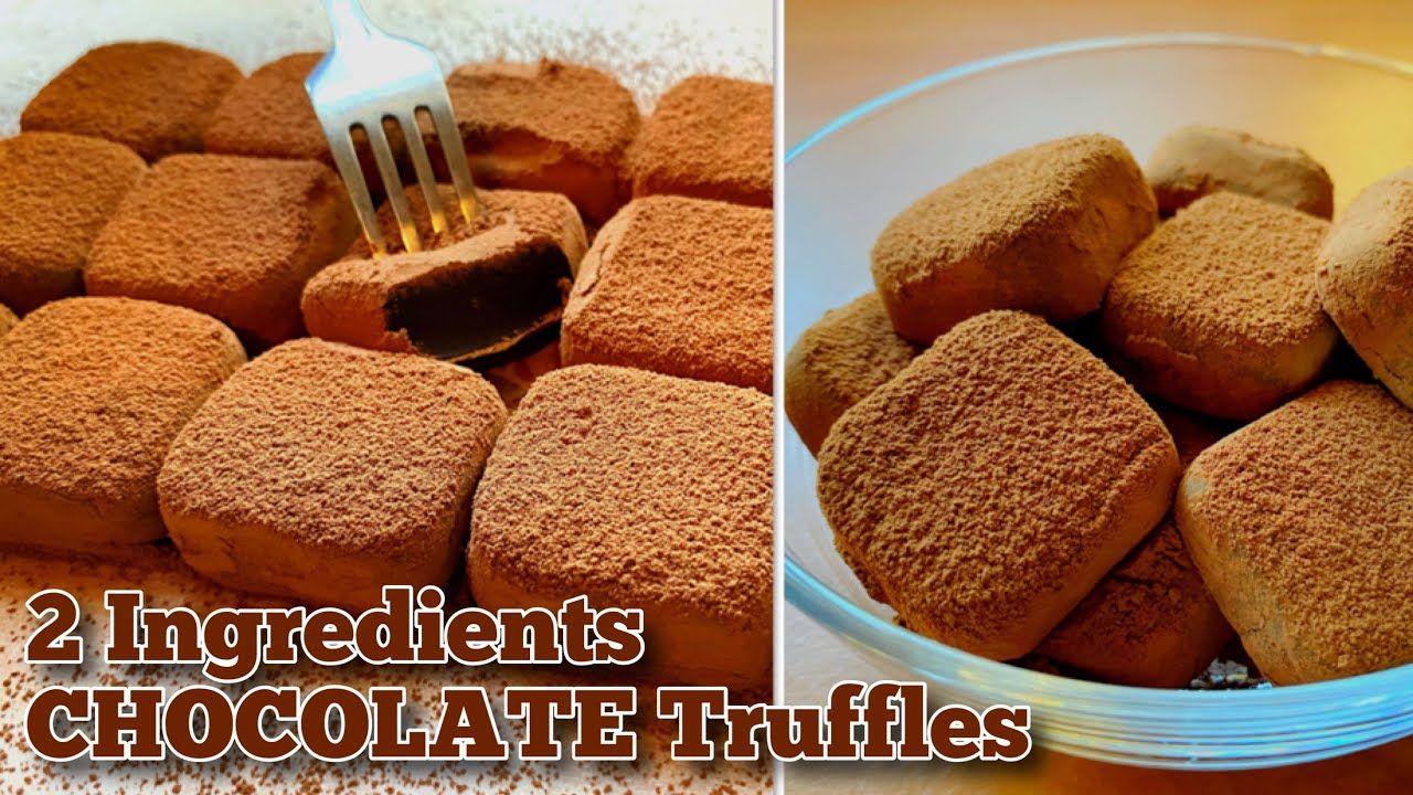2 Ingredients Chocolate Truffles   Easy Condensed Milk ...