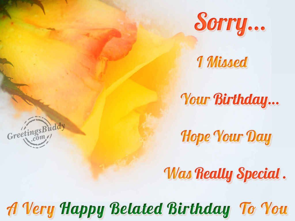 belated birthday wishes Free Large Images – Free Belated Birthday Cards