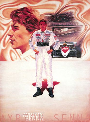 Ayrton Senna F1 Formula 1 Mclaren HONDA Lotus Williams Poster Japan Limited Rare
