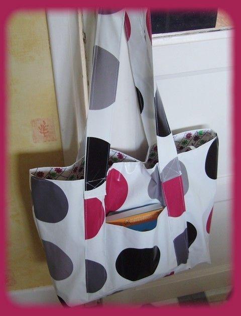 un sac de plage en toile cir e mes tutos couture. Black Bedroom Furniture Sets. Home Design Ideas