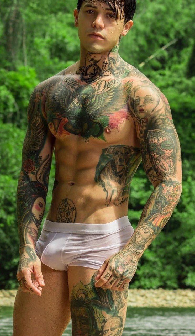 Tattoo black men cock