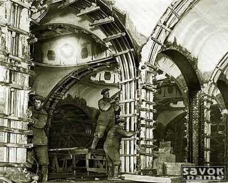 """Станция """"Маяковская"""" 1976 год. Строительство станции ..."""
