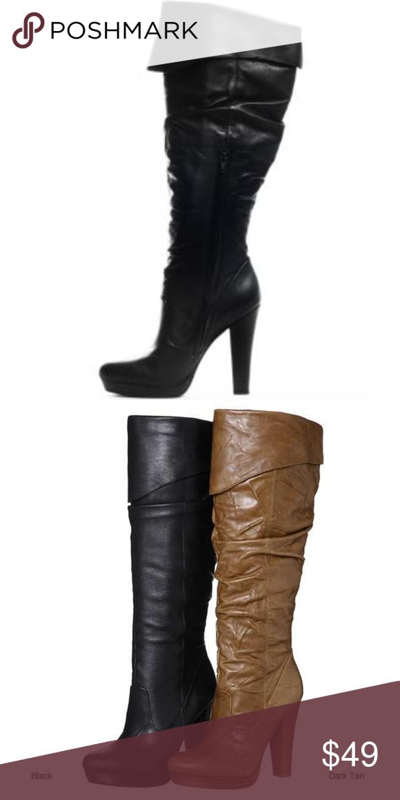 Jessica simpson black 'tulip boots euc
