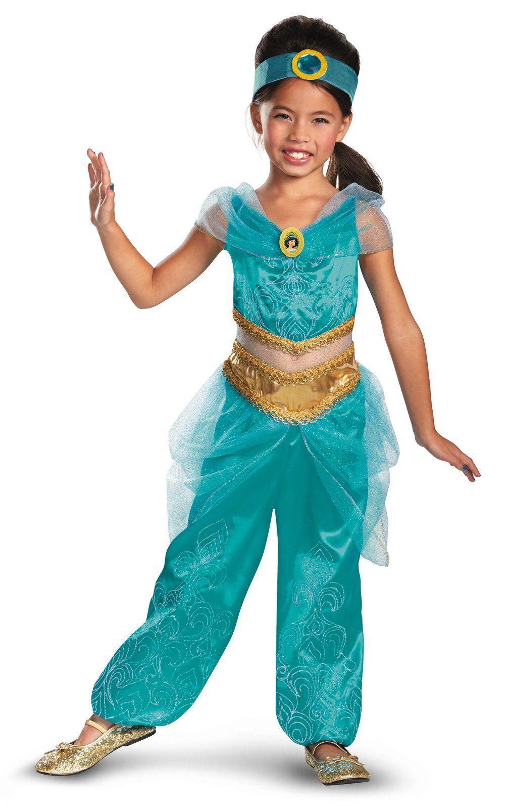 eca7e7c29 Disney Jasmine Deluxe Sparkle Toddler / Child Costume   disney ... princess  jasmine costumes