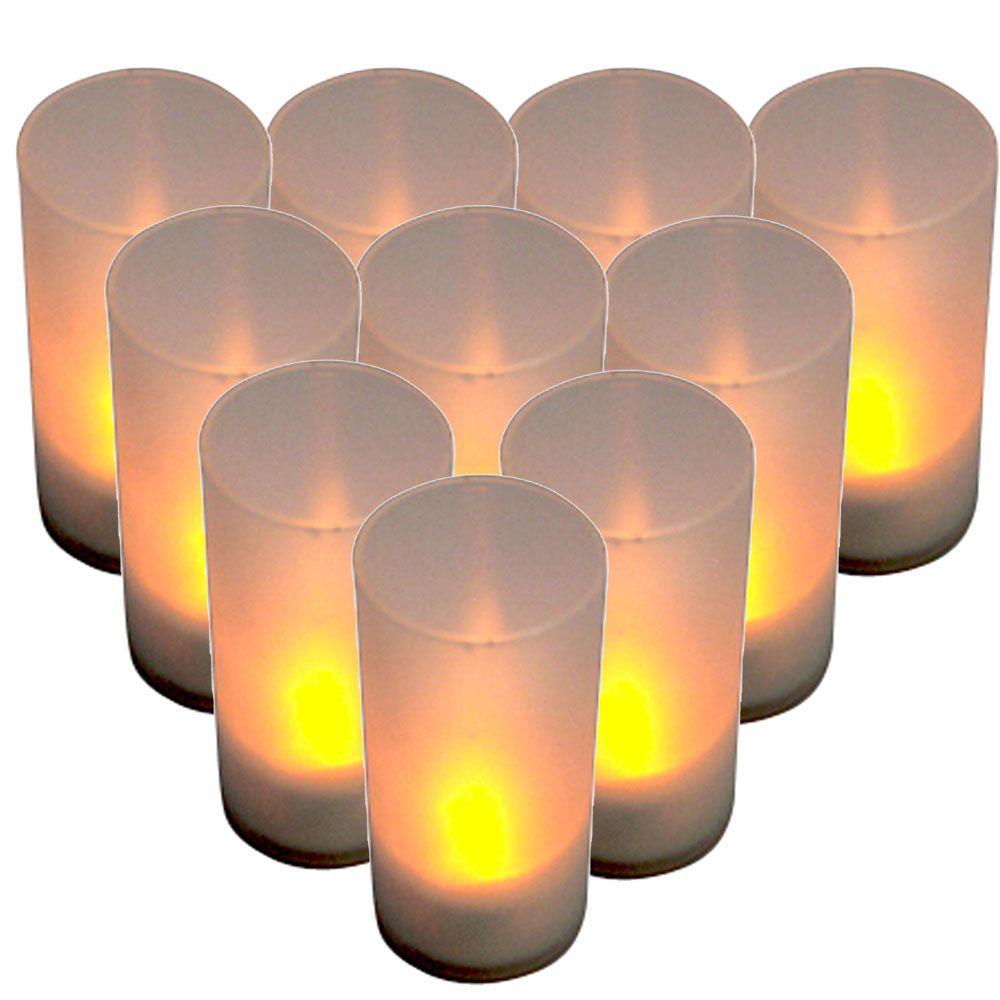 New led electronic candle light sensor sound flicker