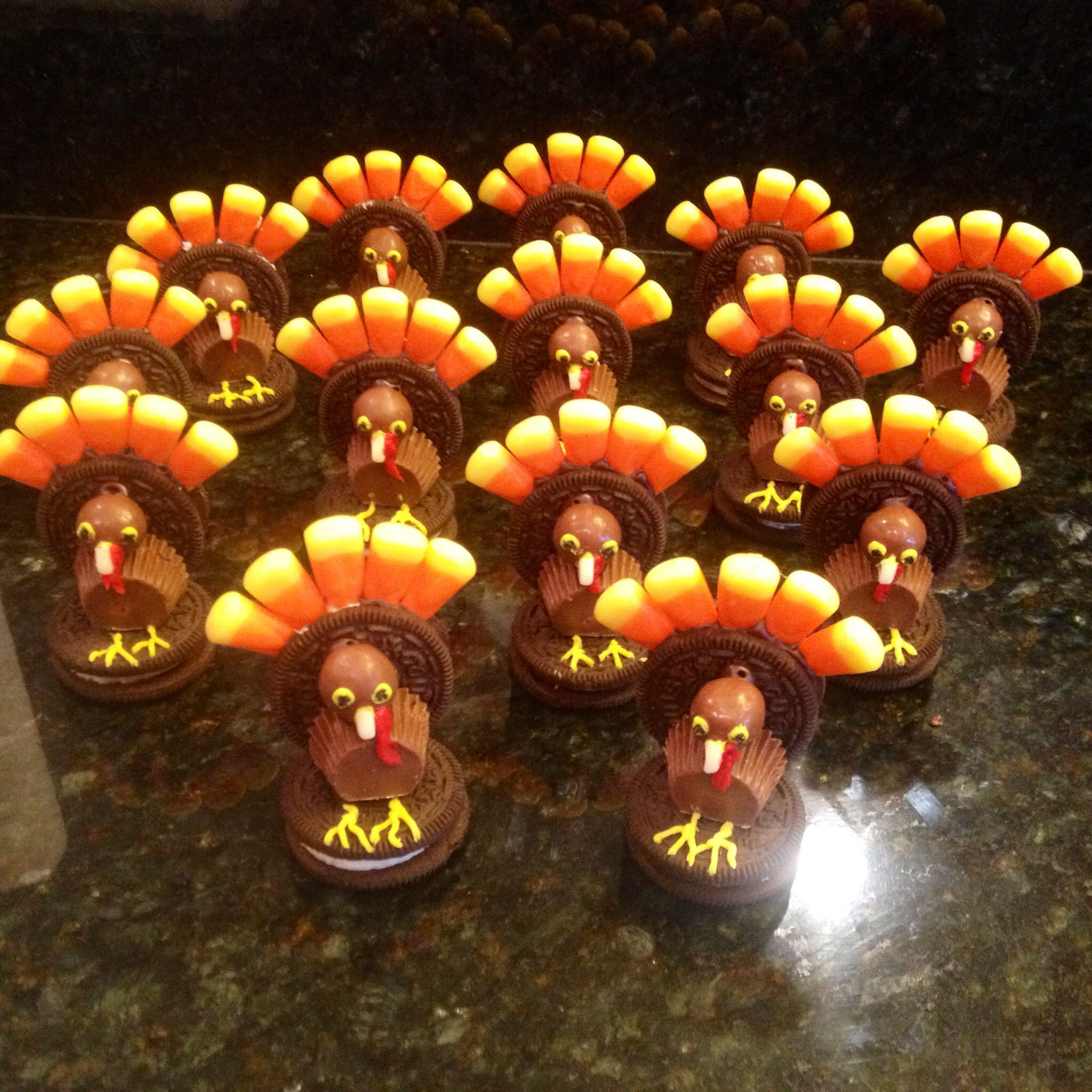 Thanksgiving Turkey's made from candy