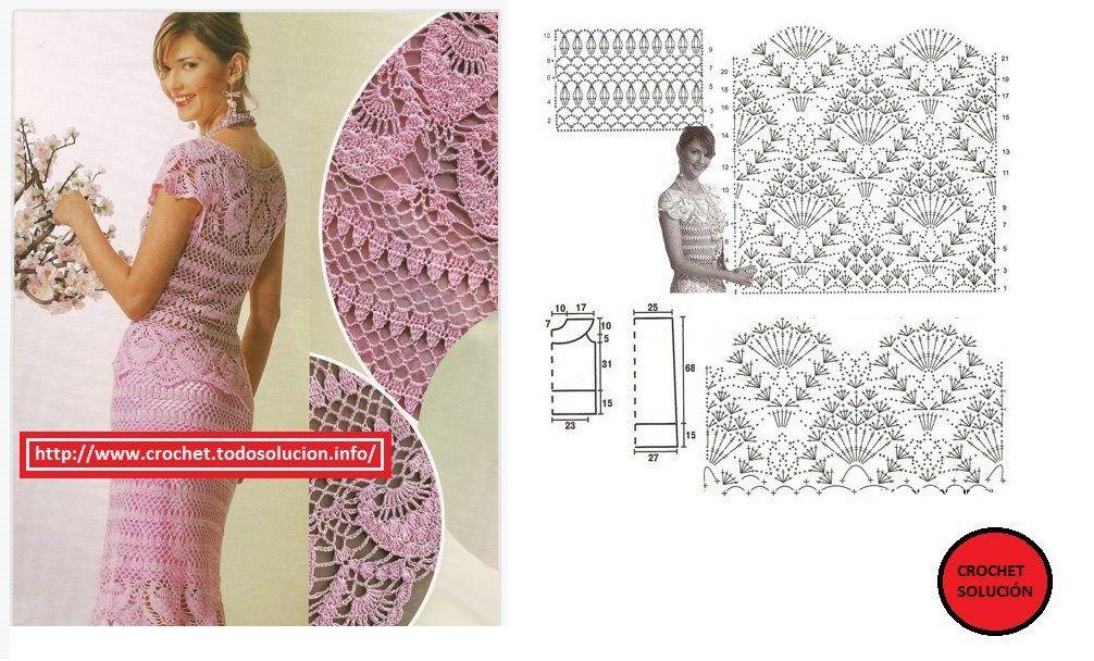 traje crochet rosado | Crochet Damas | Pinterest | Crochet gratis ...