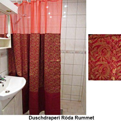 Shower curtain Red room  Only one pcs.