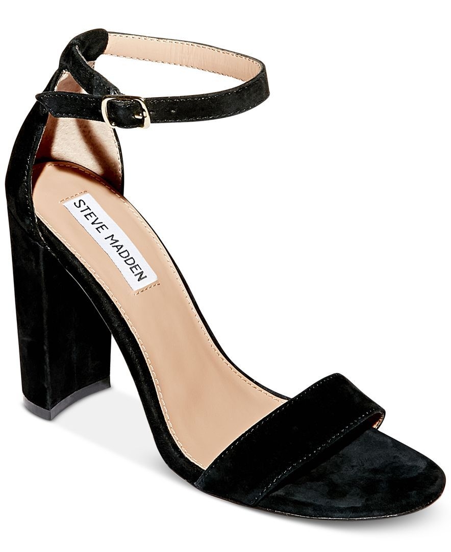09ebfbb2943 Carrson Two-Piece Sandals | obcasy,sandalki | Ankle strap block heel ...