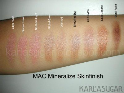 MAC Heavenly creatures mineralize skin finish star wonder swatches:-
