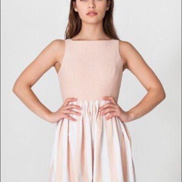 American Apparel Striped Chambray Sun Dress Make an offer! Dresses