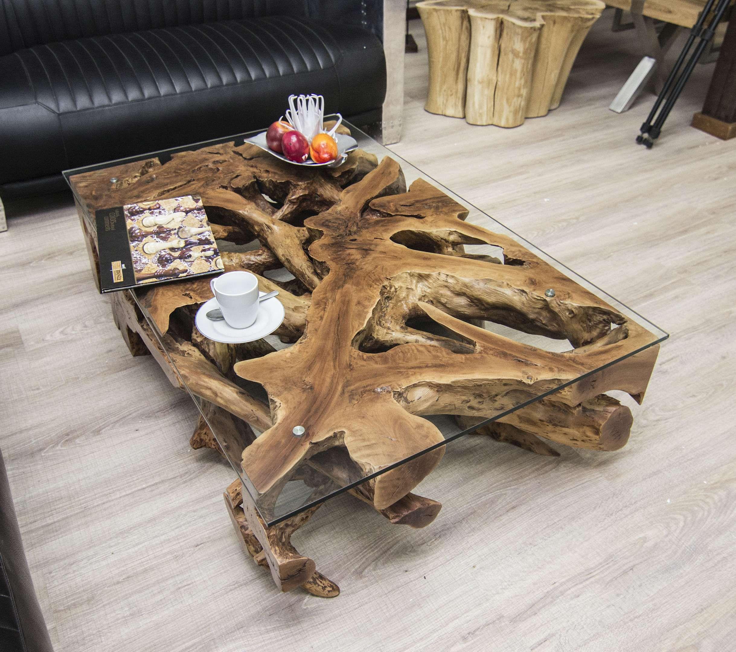 Der Tischonkel Wurzeltisch Lychee Baumwurzel 123 X 78 Cm