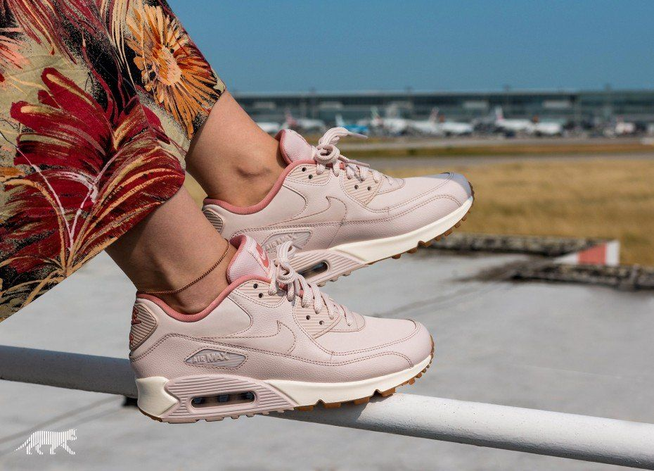718472716aac Nike Wmns Air Max 90 LEA (Silt Red   Silt Red - Red Stardust - Sail ...