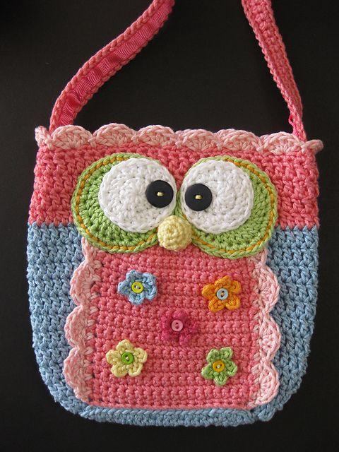 CrackerjackKnits\' Little Girl\'s Owl Purse pattern for $5.20 at ...