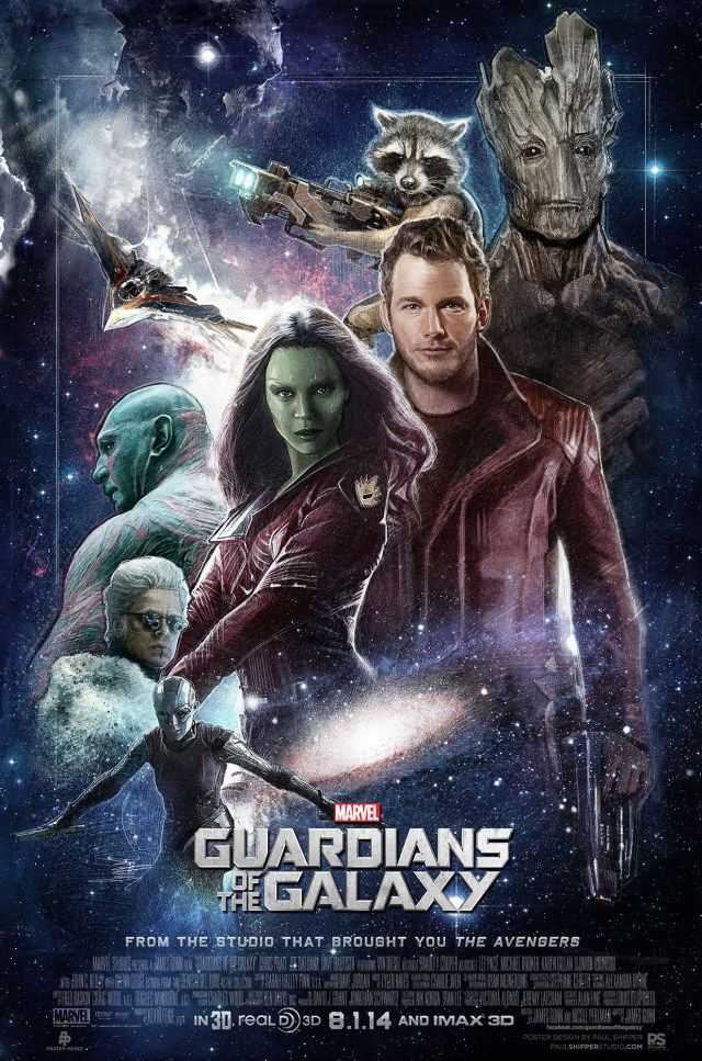 Guardians Of The Galaxy By Paul Shipper For Poster Posse Project 9 Posteres De Filmes Posters De Filmes Lixeira Carro