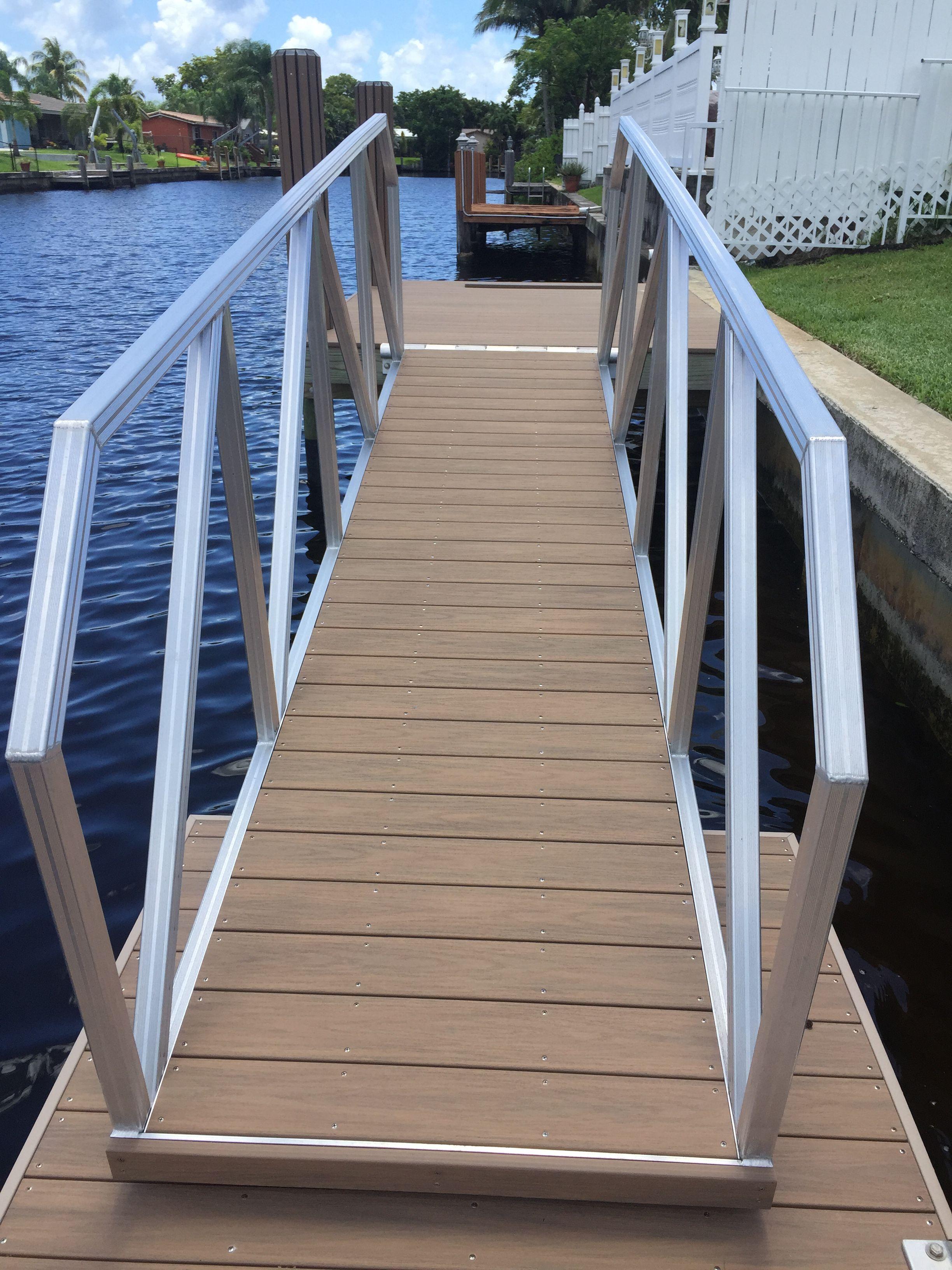 Aluminum gangways floating dock gangway accudock sea