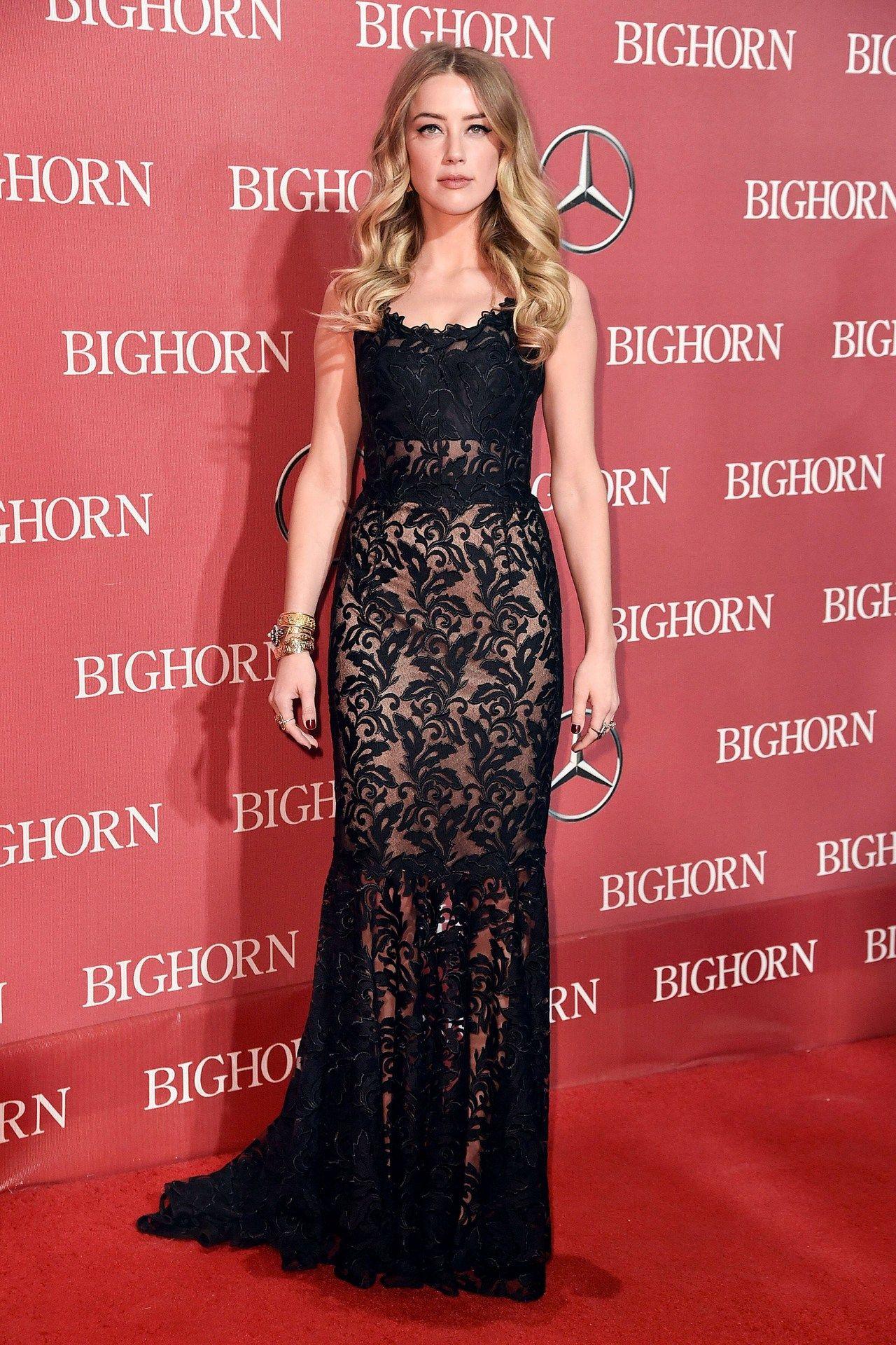 Palm Springs Film Festival Gala: Amber Heard in a Dolce & Gabbana gown