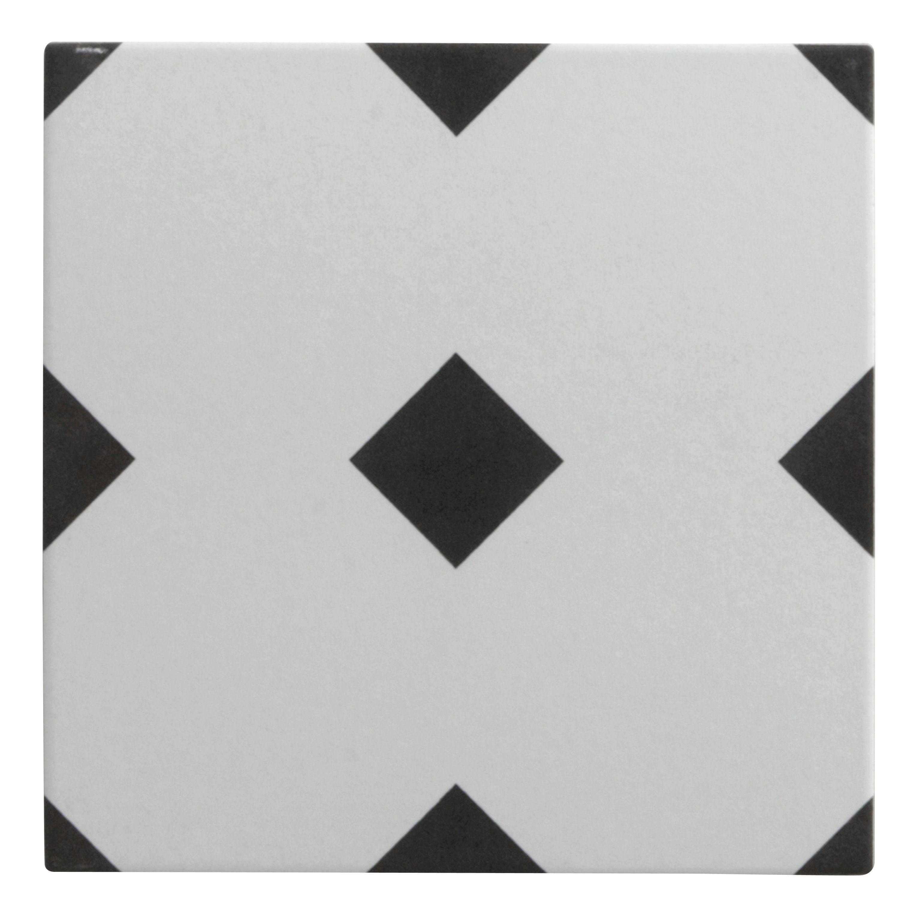 Carrelage Sol Et Mur Noir Blanc Effet Ciment Gatsby L20 X L20 Cm