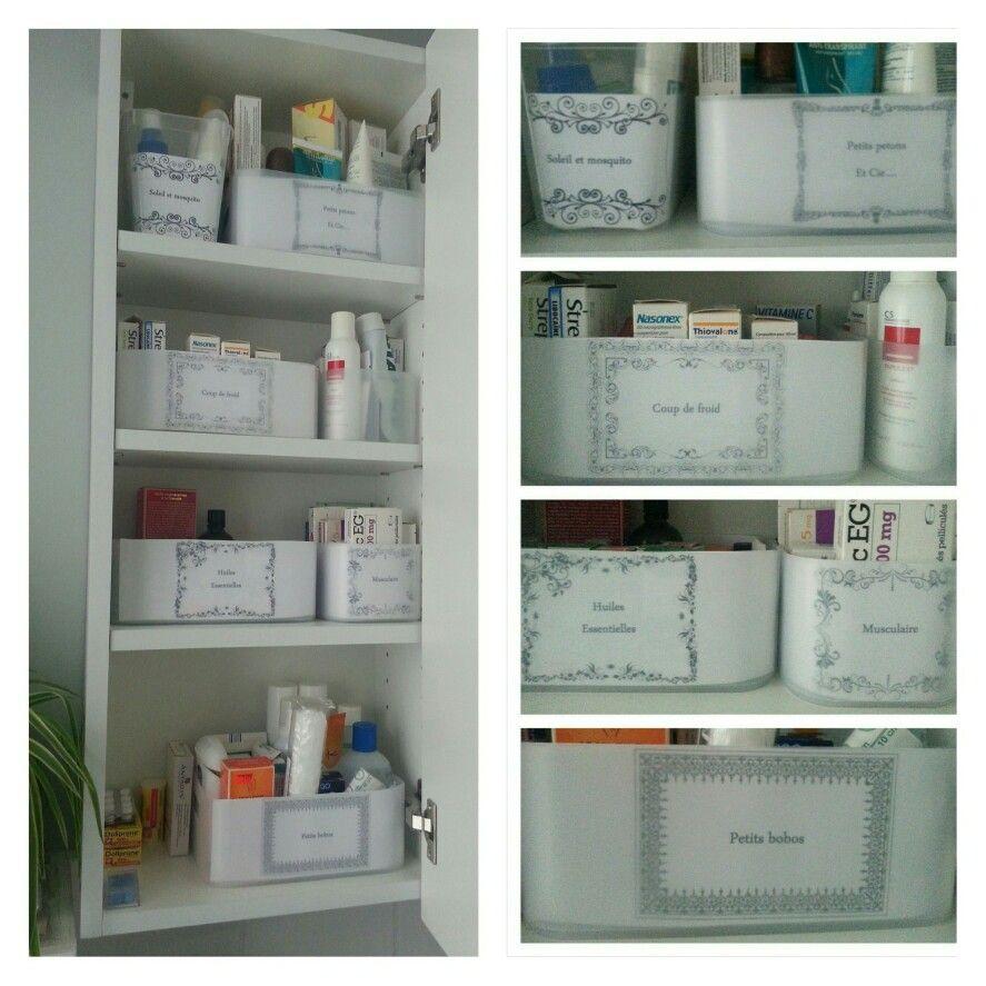 Idee De Rangement Pharmacie Faite Avec Des Corbeilles Vanity En Pp De Chez Muji Idee Rangement Rangement Maison Rangement