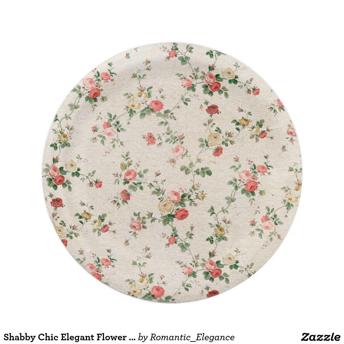 Shabby Chic Elegant Flower Floral Paper Plate  sc 1 st  Pinterest & Shabby Chic Elegant Flower Floral Paper Plate   Elegant flowers and ...