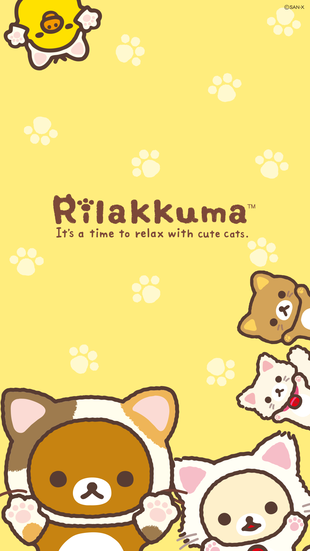 Rilakkuma Cat Series Phone Wallpaper • 1080x1920 วอลเป