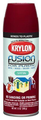 Krylon 2425 12-Ounce Fusion for Plastic Spray Paint, Satin Burgundy - Amazon.com