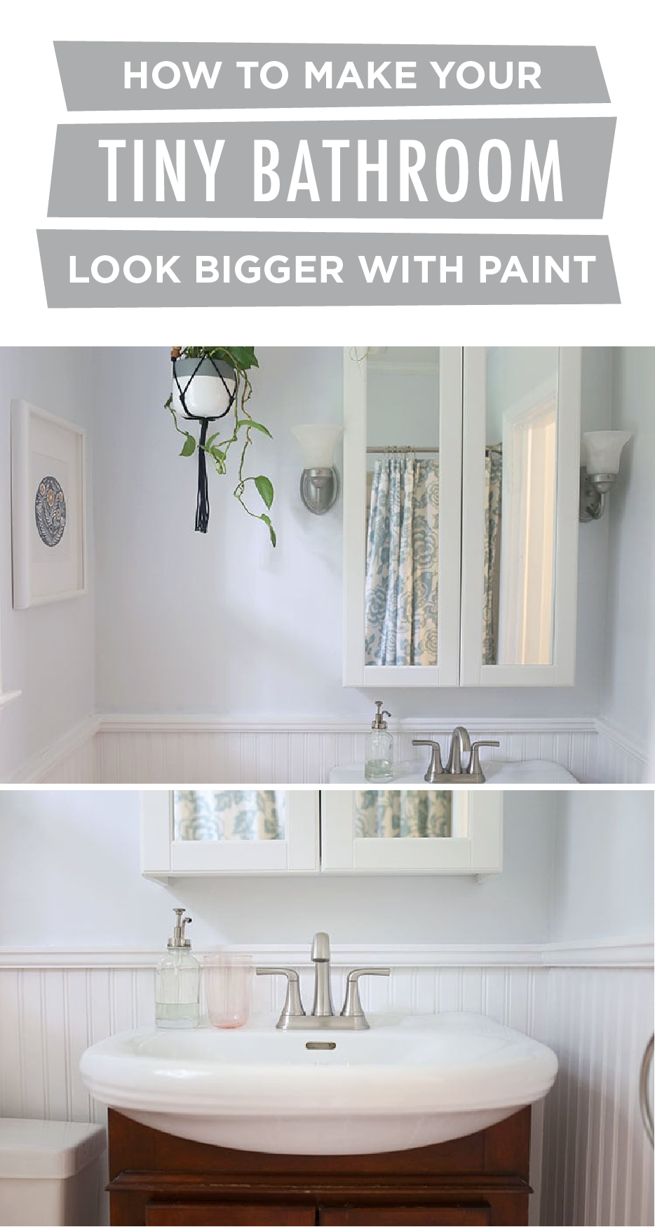 How To Make A Tiny Bathroom Look Bigger With Paint Small Bathroom Paint Small Bathroom Paint Colors Small Room Paint