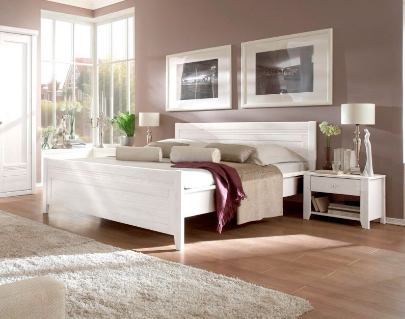 scala massivholzbett doppelbett kiefer weiss 160 x 200 cm schlafzimmer schlafzimmer. Black Bedroom Furniture Sets. Home Design Ideas