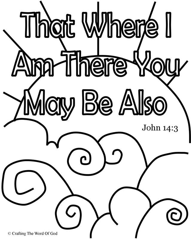 That Where I Am There You May Be Also Coloring Page Day 5