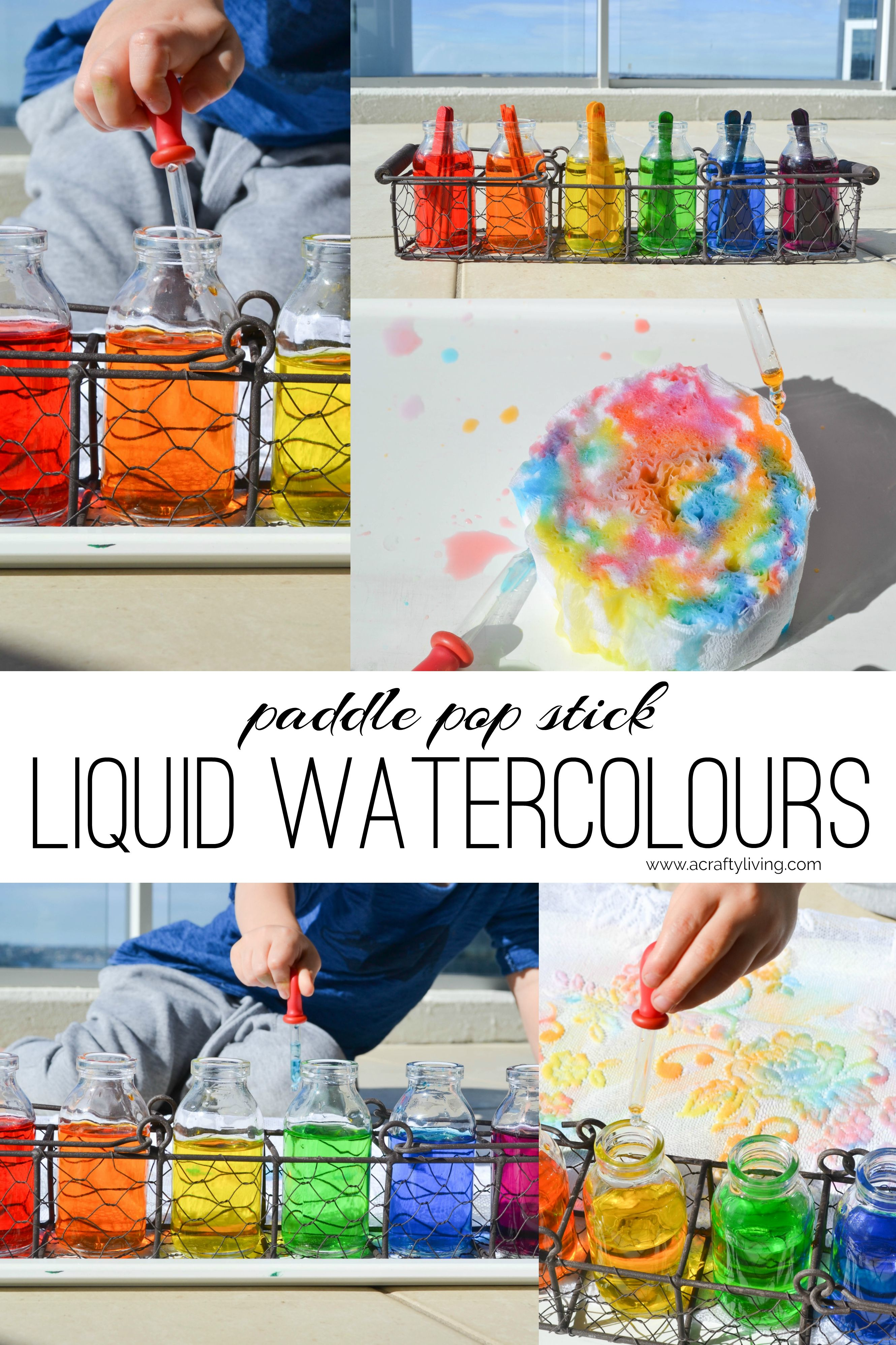 Diy Liquid Watercolours Made From The Dye Of Coloured Paddle Pop