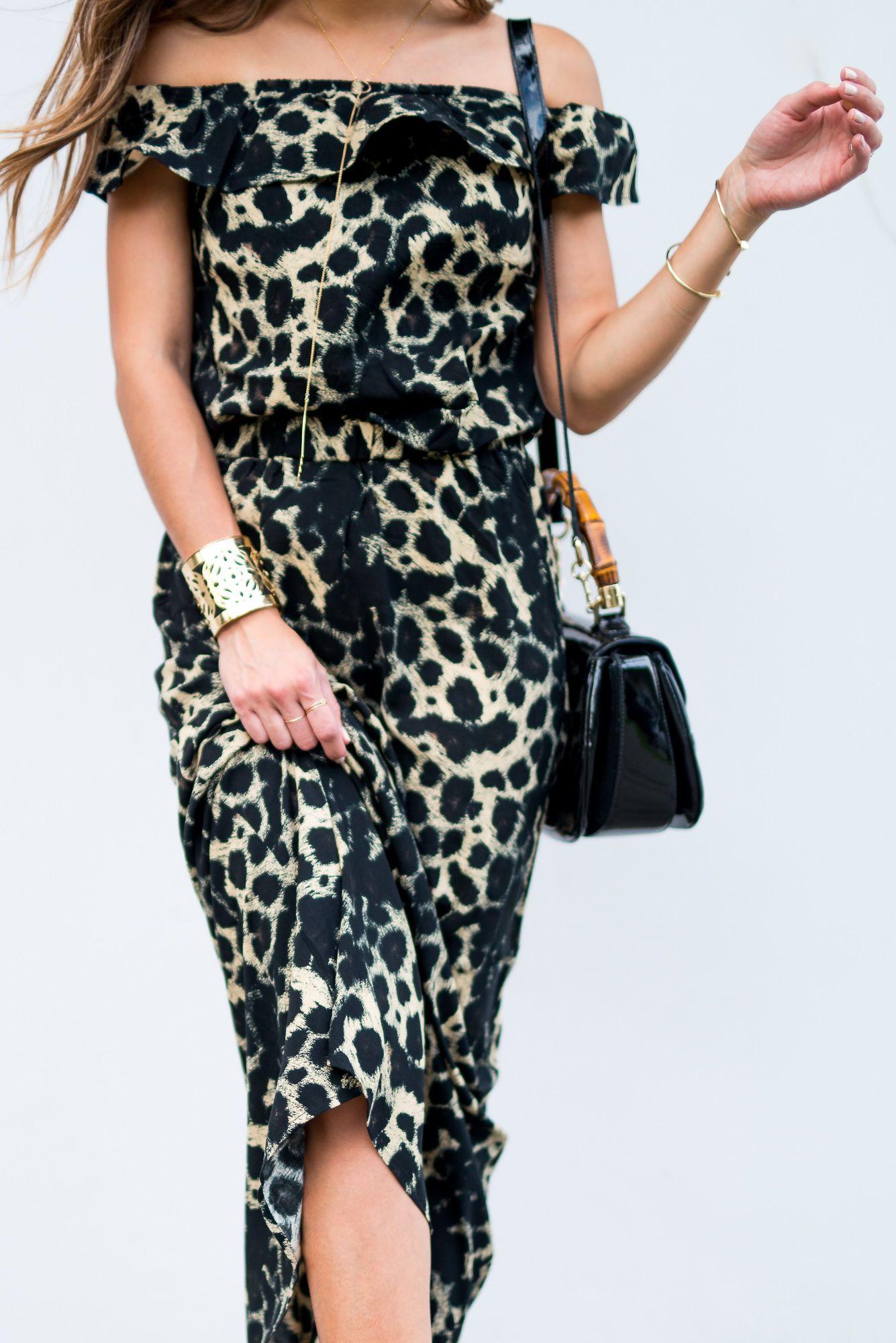 b216b1ecb71b Vero Moda -Leopard -Print -Off -The- Shoulder -Maxi-Dress-Valentino-Rockstud-Sandals-  Gucci-Bamboo Bag - Pam- Hetlinger- The- Girl - From- Panama