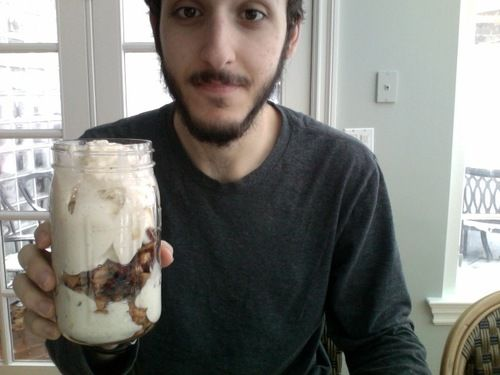 apple-pie banana ice cream.  i'd add oats to the apple pie part i think.  veganyums.