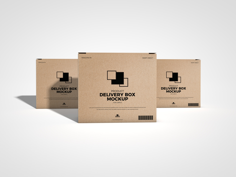 Download Free Product Delivery Box Mockup For Cargo Dribbble Graphics Box Mockup Mockup Free Packaging Mockup