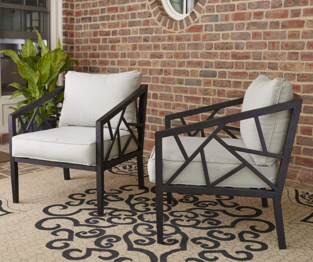 Pin on Porch design on Wilson & Fisher Verrado Black Cushioned Patio Sofa id=12654
