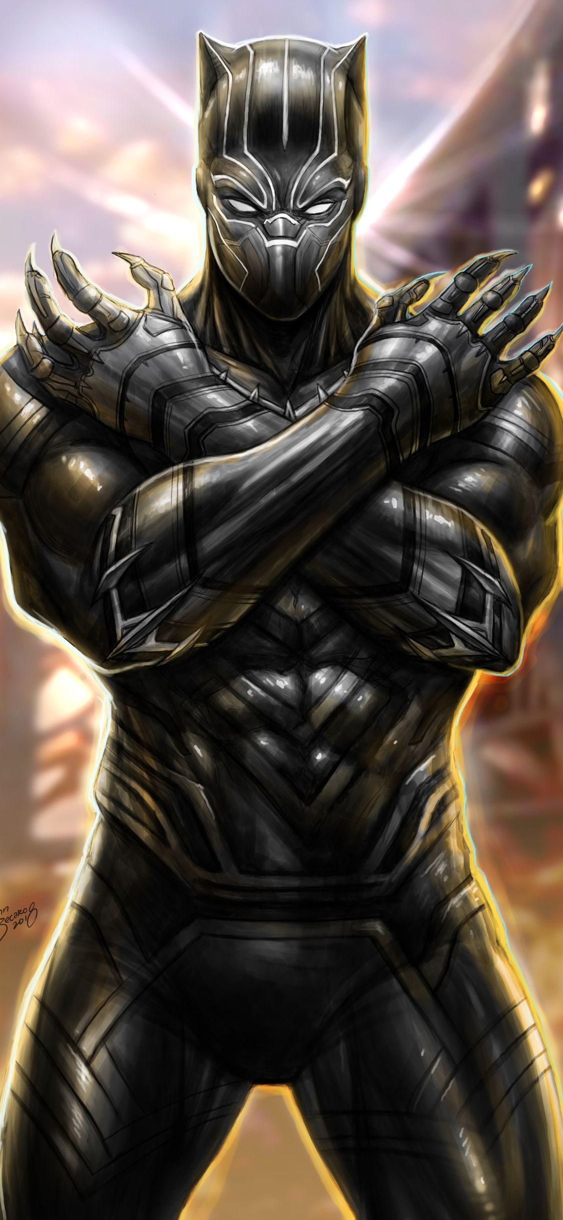1125x2436 Black Panther New Arts Iphone Xs Iphone 10 Iphone X Hd 4k Wallpapers Images Backgrounds Black Panther Comic Black Panther Marvel Black Panther Art