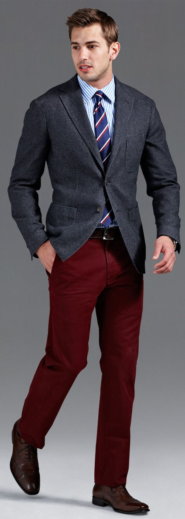 How to Dress for the Office, Nine Ways | Red pants men ...